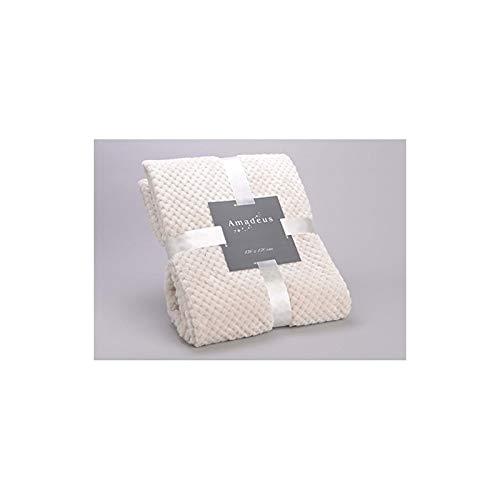 Plaid damier crème 130x170 amadeus