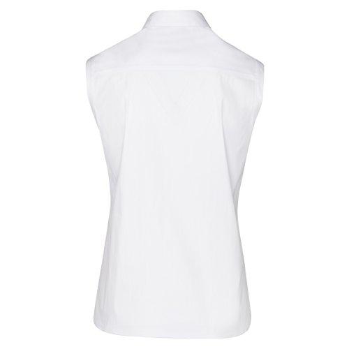 Seidensticker Chemisier Blanc sans Manches Gorge Cachée - Blanc Blanc