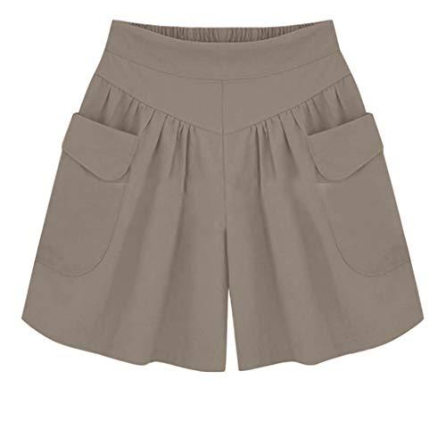 Short Femmes,ITISME Mode Été Hot Pantalons Femmes Dentelle Grande Taille Corde Attacher Shorts de Yoga Pantalons de SportJambières S-5XL (XXL, Y-Marron)