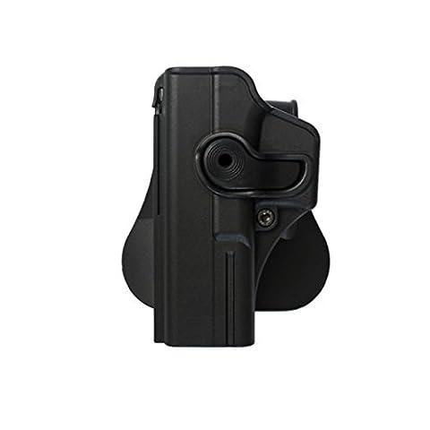 Polymer Holster Glock17/22/28/31, Paddle, Schwarz,