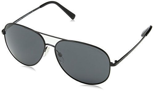 Michael Kors Unisex-Erwachsene KENDALL I 108287 60 Sonnenbrille, Matte Black/Greysolid,