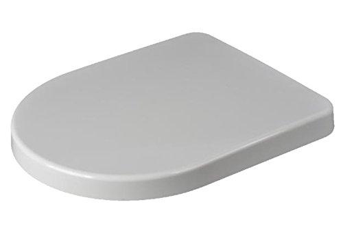 sanicomfort 1999850Train–Asiento de inodoro con tapa, descenso automático metal bisagras, color blanco,...