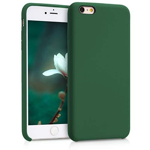 kwmobile Funda para Apple iPhone 6 Plus / 6S Plus - Carcasa de [TPU] para teléfono móvil - Cover [Trasero] en [Verde Oscuro]