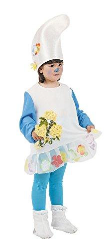Imagen de disfraz de gnomo azul para niña  único, 9 a 11 años
