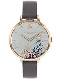Sara Miller The Wisteria Collection SA2048 - Reloj de Pulsera (Correa de Piel, Chapado