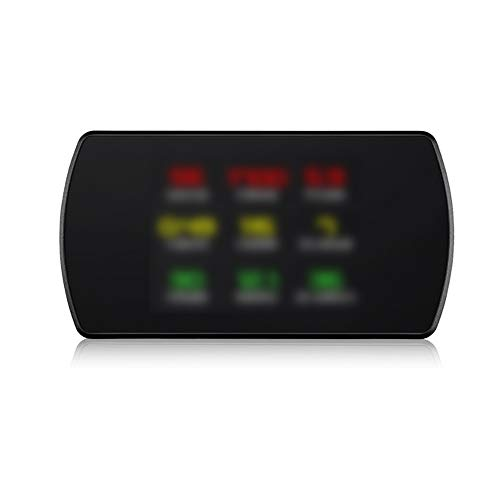 Tickas Unité principale OBD2 HUD, ordinateur de bord de voiture de projecteur GPS HUD 4,3 pouces HD TFT Projecteur de vitesse numériqu