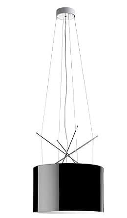 Flos Ray S Lampe à suspension abat-jour en métal Noir