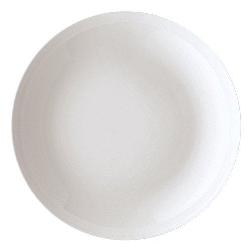 Arzberg 42100–590003–10322 Cucina Basic ROK Assiettes creuses 22 cm, Porcelaine, Blanc, 22,1 x 22,3 x 10.3 cm