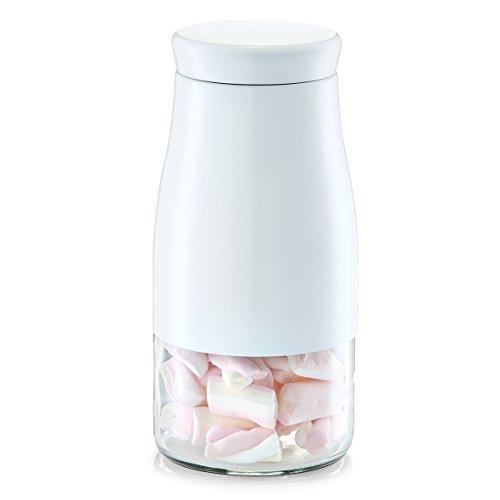 zeller-jar-1750-ml-white-glass-and-stainless-steel