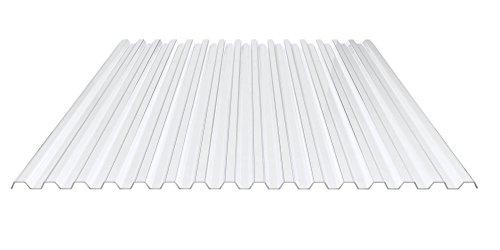Sparpaket Spundwandplatten + Befestigung | Lichtplatte | Profil 70/18 | Material PVC | Breite 4,23 m | Länge 3,00 m | Stärke 1,0 mm | Farbe Klarbläulich