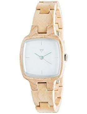 Kerbholz Damen-Armbanduhr Greta Analog Quarz Holz 0612524231015