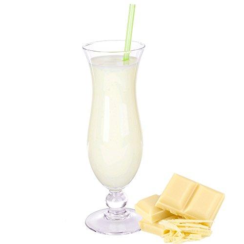Weiße Schokolade Geschmack Eiweißpulver Milch Proteinpulver Whey Protein Eiweiß L-Carnitin angereichert Eiweißkonzentrat für Proteinshakes Eiweißshakes Aspartamfrei (1 kg)