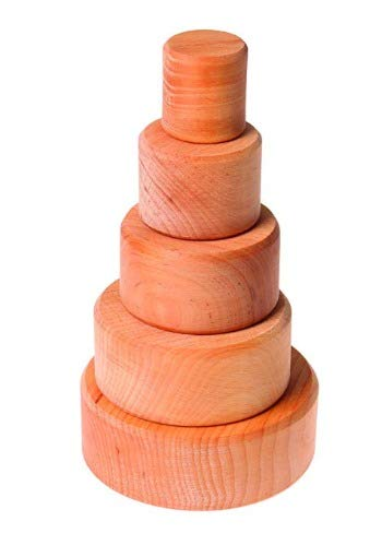 Wooden Stacking Shape Toys Baby Natural Cup Games for babies. Nesting Bowls for young toddlers for age 1 year.Gift for toddlers