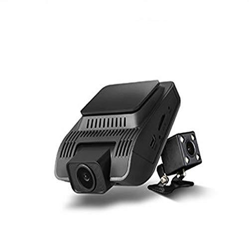 WBGSNHHH Camcorder DVR Digitaler Videorecorder Front Cam 170 ° Weitwinkel- Und Rückansicht 120 ° Weitwinkel, Loop-Aufnahme, G-Sensor, Bewegungserkennung,Black