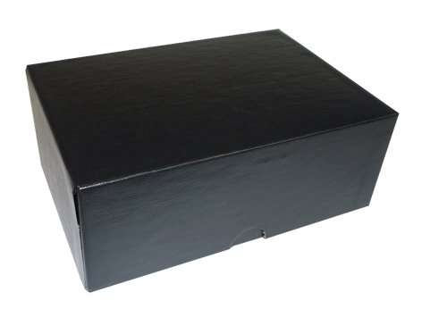 Aurora Bettwäsche (Aurora GB schwarz Proof Box, 61/2x 41/2x 21/5,1cm, schwarz, Bettwäsche geprägt, umweltfreundlich, recycelbar, Made in USA (aua98070))
