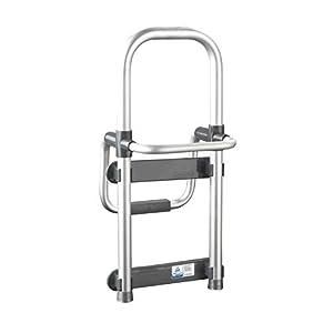 Wenko Badewannen-Einstiegshilfe Secura – verstellbar, 120 kg Tragkraft, 24,5 x 52,5 x 23 cm,