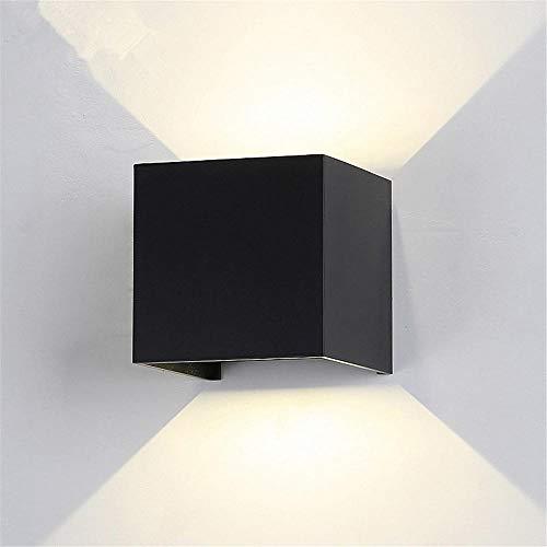 Wandleuchten LED 6W Schwarz Landschaft Wandleuchte Indoor und Outdoor Modern Wall Wash Beleuchtung IP65 Wasserdichte Lampe für Wohnzimmer, Schlafzimmer, Flur/Weißes Licht