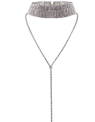 Cdet Women Necklace Style Diamon...