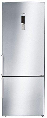 Bosch 505L 2 Star Frost Free Double Door Refrigerator (KGN57AI40I, Silver, Inverter Compressor, Bottom Freezer)