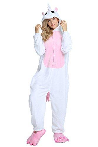Missley Einhorn Pyjamas Kostüm Overall Tier Nachtwäsche Erwachsene -