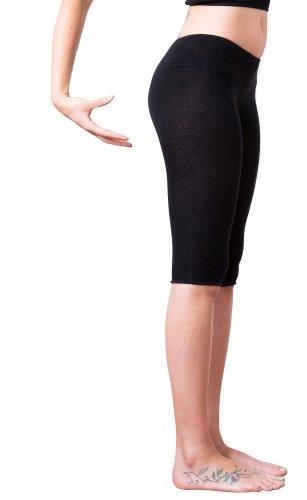 In tessuto elasticizzato per Yoga, la danza, modello Capri & Over Knee Peddle manopole e (Pesche Vita Bassa Dei Pantaloni)