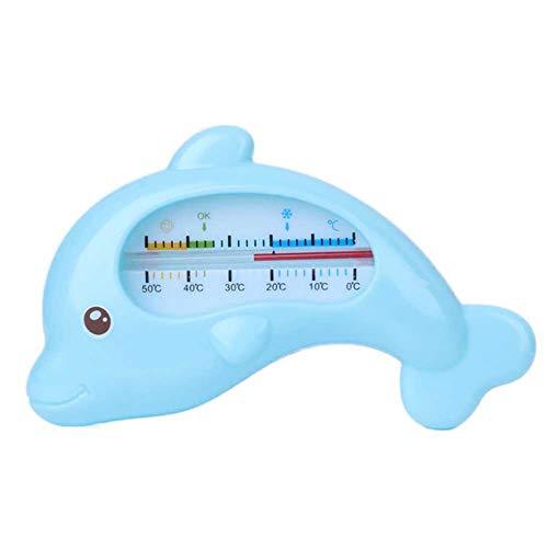 Delfin-form (dontdo Cartoon Delfin-Form Baby Baby Infant Dusche Bad Wasser Thermometer Temperatur Test Tool, ABS, blau, Einheitsgröße)