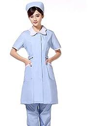 ESENHUANG Mascota Hospital Enfermera Uniformes De Vestir Mujeres Clínica Médica Ropa De Trabajo Manga Corta Abrigo