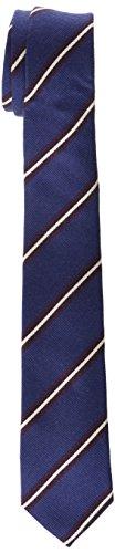 JACK & JONES PREMIUM Herren Krawatte Jacmilano Tie Noos, Mehrfarbig (Navy Blazer Detail:Stripe), One size (Anzug Herren Stripe Wolle)