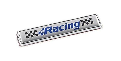 EX1 Universel Auto Voiture Autocollant Racing Décoration Decals (Argent)