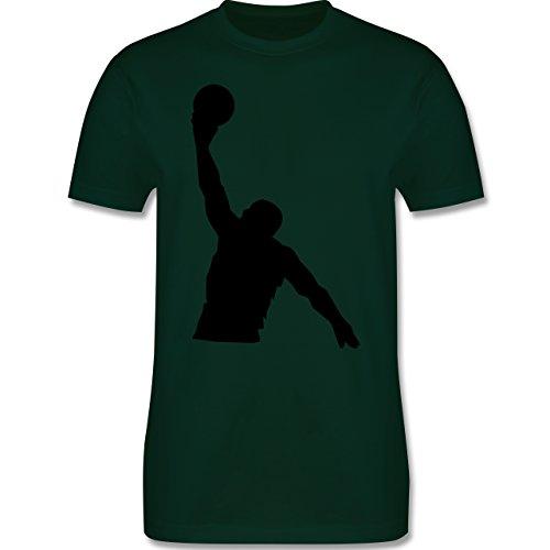 Basketball - Basketball - Herren Premium T-Shirt Dunkelgrün