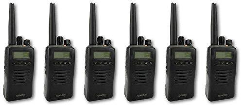 Kenwood TK3140 Uhf 4 Watt Walkie-Talkie Walkie-Talkies & G Form Hörmuscheln X 6