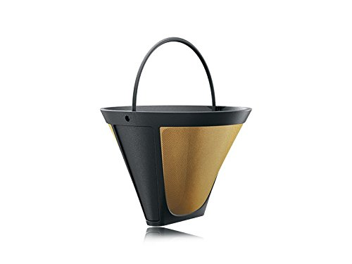Braun 1x4 Kaffeefiltereinsatz für Filterkaffeemaschinen Goldton-Permanentfilter