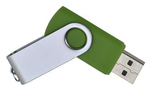USB Stick aus Metall mit 16GB in grün USB 2.0/1.1 Speicherstick mit Anhänger (Key=Vorrichtung für Schlüsselanhänger) by aricona, Lange Datenhaltbarkeit und Plug and Play Funktion