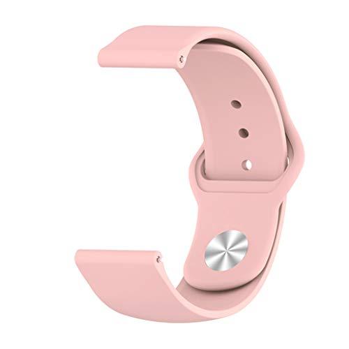 Uhrenarmband - Wasserdicht, atmungsaktiv, die richtige Wahl für den Sport - kompatibel für Galaxy Watch 46mm, Samsung Gear S3 Frontier Classic,Ticwatch Pro (Rosa) ()