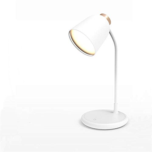 LED reading lighting table lamp USB can charge lighting three-level brightness adjustable touch switch night light + gold