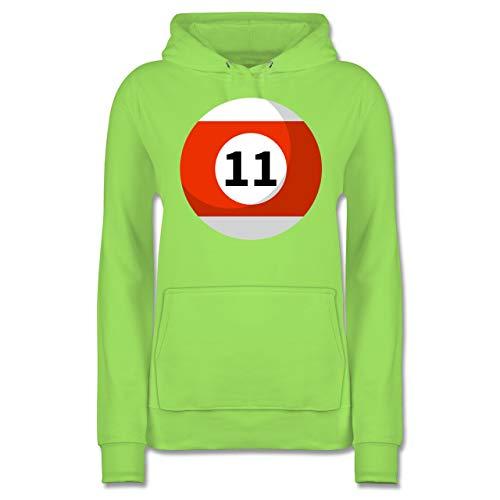 Shirtracer Karneval & Fasching - Billardkugel 11 Kostüm - S - Limonengrün - JH001F - Damen - Übergröße Damen Elf Kostüm