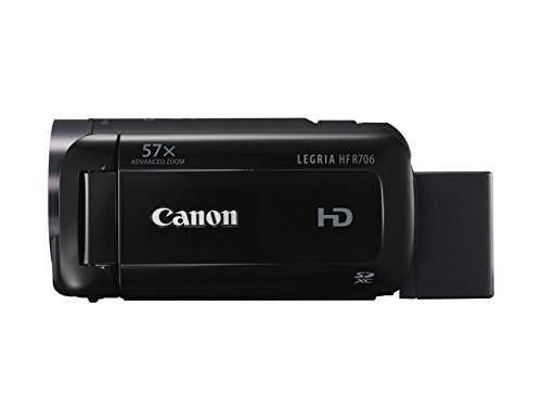 Canon LEGRIA HF R706 High Definition Camcorder - Black (32x Optical Zoom, 1140x Digital Zoom) 3-Inch OLED Touchscreen