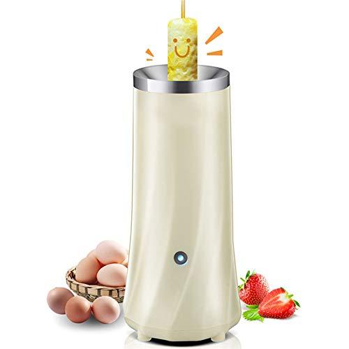 GAYBJ Einrohr-Automatik Multifunktions Egg Roll-Maschine elektrische Eierkocher Omelette Meister Wurstmaschine Frühstücksei Werkzeug,Silber