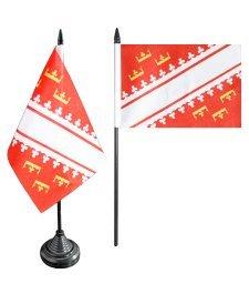 Digni Drapeau de table France Alsace nouveau, mini drapeau - 10 x 15 cm