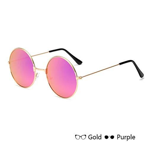 Sonnenbrille Runde Sonnenbrille Kids Retro Frame Brille Kinder Sonnenbrille Für Jungen Mädchen Brillen Uv400 Golden Rot Gelb