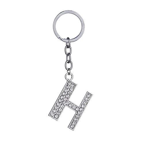 Crystal Alphabet (It's-ok Fashion Crystal Strass Alphabet Schlüsselanhänger/Schlüsselanhänger, 26 Buchstaben, Rostfreier Stahl, h)