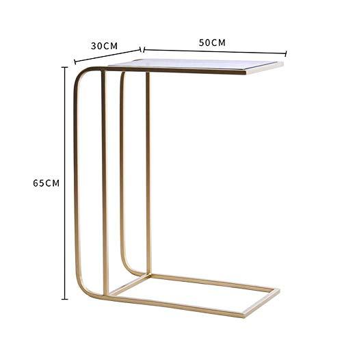Möbel Akzent Sitzgelegenheiten (LZQ Laptop Tisch Beistelltisch, C-Form Snack Tisch Gehärtetes Glas Sofa Konsolentisch Akzent Tisch Ende Tisch Möbel Für Home Office Drop-Leaf-Tisch,A,Tabelle)