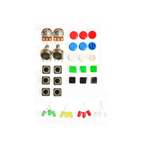 1 Sets Handy Portable Resistor Kit For Arduino Starter Kit Uno R3 Led Potentiometer Tact Switch Pin Header Good Taste Integrated Circuits