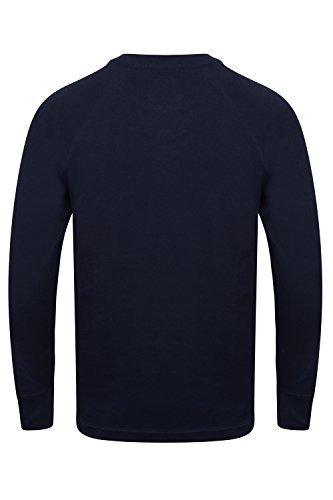 Tokyo Laundry Herren Langarmshirt dunkles marineblau