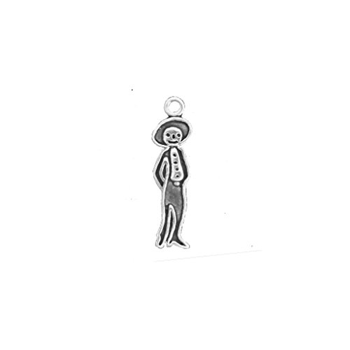 Schmuckprofessionals Anhänger Dia De Los Muertos - Männlicher Charm aus 925 Sterlingsilber