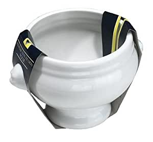 Porcelaine de Reussy 400145GL Bol Tête Lion Blanc 15 x 12,5 x 9 cm
