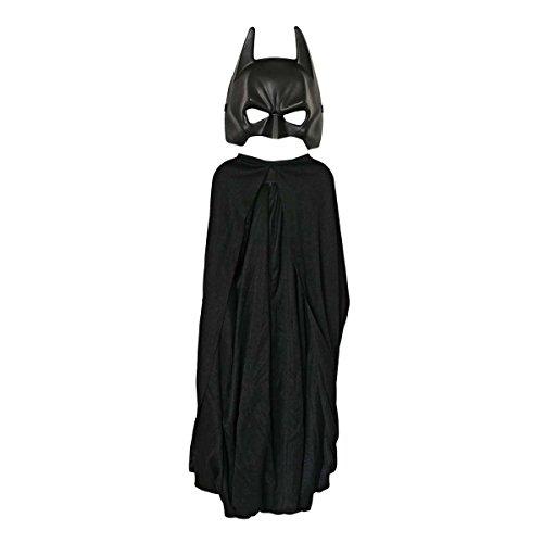 Kind Cape & Maske Batman Kostüm - Rubies 35482 Kostüm, schwarz