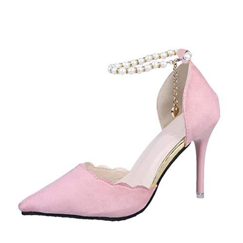 ❤️ Perle Dekoration Damen Frühling Pumps,Amlaiworld Herbst Retro Party Ballerinas Classic Hochzeit Schuhe Elegant Absatzschuhe Hoch Fersen Stilvoll Segelschuhe