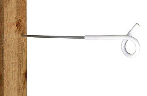 5x Ako Langstiel-Ösenisolator / Schweineschwanz-Isolator, Länge:40 cm