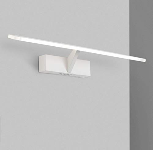 BAIF LED Spiegel Frontleuchte für Badezimmer Wasserdicht Anti-Fog Moderne Mode Einfache Aluminium Acryl Wandleuchten (Elfenbein Weiß) -